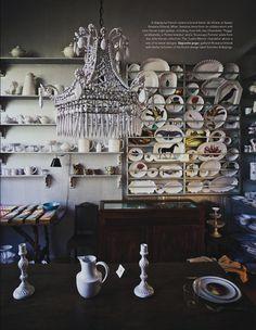 Astier de Villatte display at Spazio Rossana Orlandi, MilanPARTY PLANNING  #charmingladiesclub www.charmingladiesclub.com