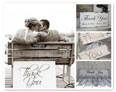 Love this Thank You sign (in the Scriptina font)