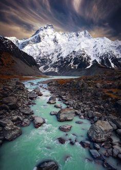 ~~Source of Life | winter landscape of Mount Cook, New Zealand | by Sam Assadi~~