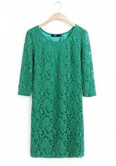 Fashoin Enchating Dizzying Green Blending round neck Half Sleeve Print FASHION DRESSES