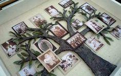 Family Tree Shadowbox style