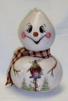 snowmen gourds, reminds me of some of the jamie mills-price things I've painted in the past