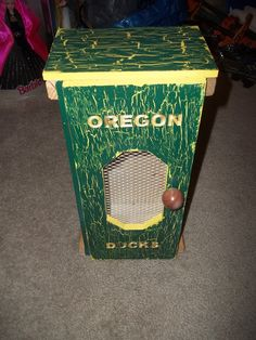 Custom order, Oregon Ducks, cut outs on each side, C&C front door and 1 side. These run under $150 and maybe as cheap as $65 depending on how you want it. This is ALL PALLET WOOD.