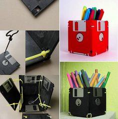Porta-caneta de disquete