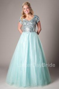 """Modest Prom Dresses : this dress is literally called """"Hailey"""". It was made for me!"""