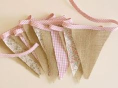 pretty decoration for parties or photography prop Fabric Bunting, Bunting Garland, Burlap Bunting, Burlap Curtains, Buntings, Vintage Party, Linen Pillows, Creative Decor, Party Fashion