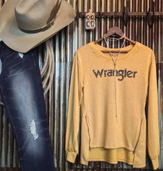 Its a damn good day. Shes back in stock yall!!  #mustard #love #wrangler #retro #savannah7s {click tag in pic to purchase}