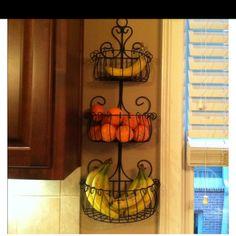 Plant hanger as fruit storage...genius!