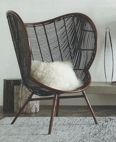 The Olaf Chair with its sinuous rounded lines inspired by Danish Modern design…