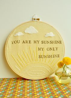 You Are My Sunshine My Only Sunshine - Modern Baby Heirloom Gift. $25.00 USD, via Etsy.