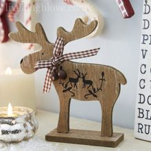 Wooden Reindeer Shelf Sitter