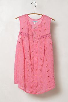 Andie Eyelet Tank #anthropologie  Love Eyelet, so feminine. Would have to rough it up a bit though with some studded wedges. :)
