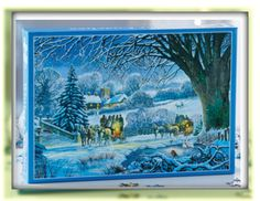 Winter Coaches Jigsaw £10 Horse-drawn coaches cross a snowy evening landscape in this 1000-piece jigsaw. Size H49 x W68.5cm. COLLECTION/DELIVERY FROM ABERDEEN OR DIRECT DISPATCH VIA PAYPAL/CARD PAYMENT (£3.95 delivery) PM/COMMENT FOR DETAILS.