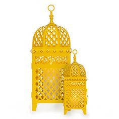 Create your own Kasbah with the exotic look of our spectacular Mimosa Lanterns, now available in lemon.