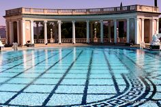 The world famous and spectacular Neptune pool--345-thousand gallons of water- Wow!