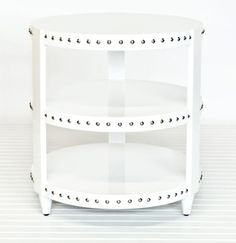 Worlds Away Nora Table in White Lacquer - oh daddy, lets make this for me.  :)
