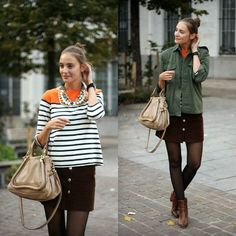 Striped shirt for fall (plus 3 other summer trends transitioned to fall)