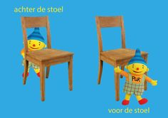Rekenprikkels - Tegenstellingen - achter, voor Dutch Language, Number Sense, Puzzles For Kids, Speech And Language, Cool Kids, Homeschool, Projects To Try, Education, Cute