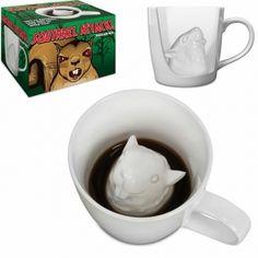 Squirrel Attack Porcelain Coffee Mug