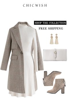 Simplistic Ribbed Knit Dress - Women's fashion and Women's Bag trends Classy Outfits, Chic Outfits, Dress Outfits, Fashion Outfits, Womens Fashion, Dress Fashion, Party Fashion, Dress Shoes, Dresses