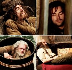 Catching a few Zzzz's in Middle-earth (behind the scenes on The Hobbit) Kili is so cute