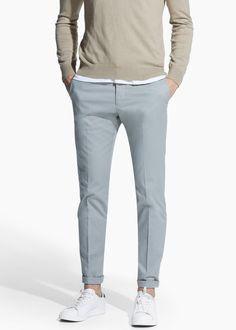 Slim Fit Tailored-Chinohose