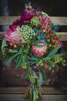 Protea Bouquet | Proteas for Weddings | Bridal Musings Wedding Blog 13