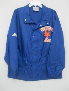 Windbreaker NY New York Mets Men's MLB Rain Jacket Lightweight Size L 100% Nylon #ApexOneGenuineMerchandise #NewYorkMets