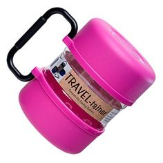 (Pink) TRAVEL-tainer™ Food and Water Container - Pet Supplies, Pet Supply, Pet Dog, Dog Supplies, Pet Products, cat supplies, fish supplies, dog fo...