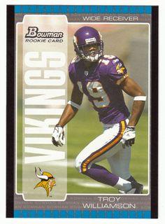 Troy Williamson RC # 142 - 2005 Bowman Football NFL Rookie