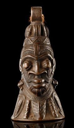 Bronze 'omo' bell  Yoruba, Nigeria
