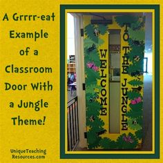 """""""Welcome to the Jungle"""" is a grrrrr-eat title for a classroom door display."""