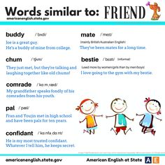 Words similar to : FRIEND #learnenglish