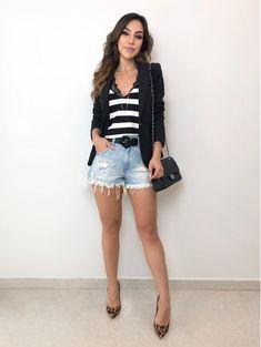 outfit with blazer Look Fashion, Fashion Outfits, Womens Fashion, Fashion Ideas, Elegante Shorts, Short Outfits, Casual Outfits, Teenager Fashion Trends, Pretty Outfits