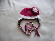 Crochet regular ear flap beanie pattern  pdf  by cuddlemebeanies, $6.99