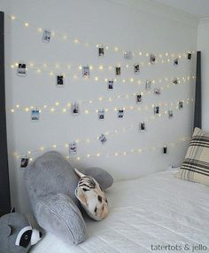 Hang extra long fairy lights and phot… Tween Teen Fairy Light Photo Display Wall. Hang extra long fairy lights and photos to create a beautiful bedroom display that everyone will love! Fairy Lights Photos, Teenage Girl Bedrooms, Teen Rooms, Room Decor Teenage Girl, Bedroom Diy Teenager, Kid Bedrooms, Beautiful Bedrooms, House Beautiful, Beautiful Sunset