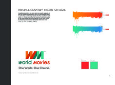 Color Scheme on Complimentary Colors. World Movies, Complimentary Colors, Portfolio Design, Color Schemes, My Design, Contrast, College, Branding, Relationship