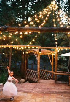 Awesome String Lights And Open Air Pavilion Or Gazebo