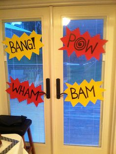 Matthew's 5! Batman Party: Decor for the Doors.