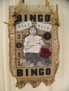 Altered Vintage Bingo Card Collage