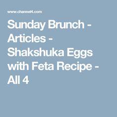 Sunday Brunch - Articles - Shakshuka Eggs with Feta Recipe - All 4