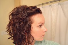 Curly without the crunchy... Going to try this out----to all my curly haired friends.