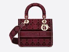 Christian Dior, Pull Oversize Mohair, Sac Lady Dior, Bordeaux, Embroidery Bags, Fashion Bags, Womens Fashion, Dior Handbags, Popular Bags