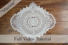 """This purchase allows you full-access to my private video tutorial for my pattern """"Marion."""" The full tutorial video includes all of the following: materials list, how to begin and finish each round, how to complete the repeat of each round, where to mark your stitches (if any), and how to b"""