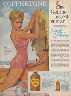 0 Stella Stevens for Coppertone Suntan Lotion ad 1963