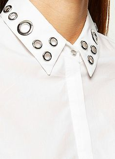 White eyelet collar shirt as seen on Lily Melrose £38.00 #BloggerStyle #RiverIsland