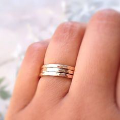 These CLASSICrings shimmer and sparkle with hammered textured facets. Theyre great stacked together for more drama and sparkle or can be worn