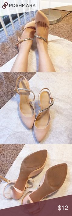 Pink Bling Heels Size: 6.5. Worn a few times Shoes Heels