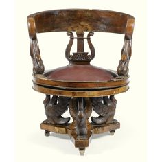FURNITURE FROM THE COLLECTION OF GIANNI VERSACE VILLA FONTANELLE, MOLTRASIO. A MAHOGANY DESK ARMCHAIR LOUIS-PHILIPPE, CIRCA 1835. Sotheby's