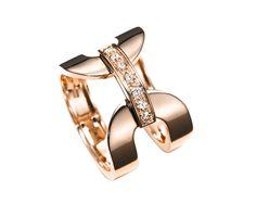 Mattioli Aruba rose gold ring with brown diamonds